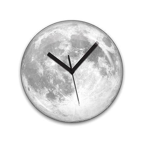 Amazoncom Kikkerland Claire de Lune Moonlight Clock Home Kitchen