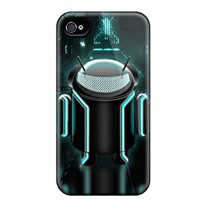 Bernardrmop Case Cover Protector Specially Made For Iphone 4/4s Android Tron Edition