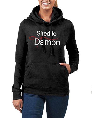 Sired di Damon-Felpa con cappuccio, colore: nero
