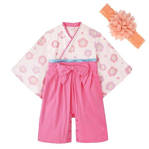 JUST style 하카마 롬퍼스(rompers) (화장식 부착) 커버 올 일본옷 일본식 복장 신생아 사내 아이 소녀