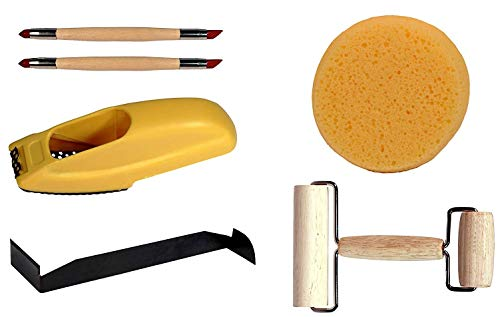 Creative Hobbies Essential 5 Piece Starter Tool Kit for Pottery, Clay, Foam, Sculpture, Artists Tools