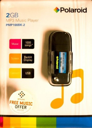 Polaroid PMP100 2GB Player Screen