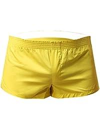 Mens Boxer Shorts, Mens Solid Color 100% Cotton Low Rise Woven Boxers
