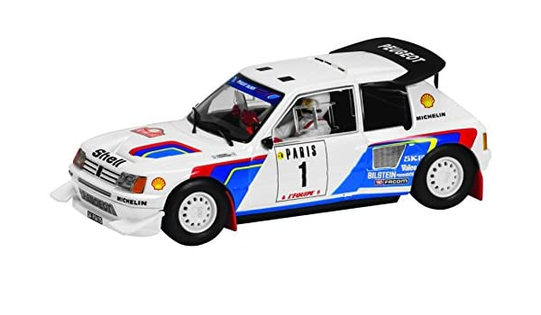 Amazon.com: Scalextric Classic Collection Peugeot 205 T16 Slot Car (1:32 Scale): Toys & Games