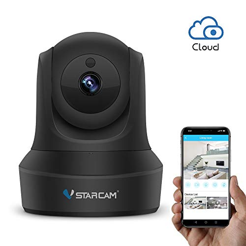 (WiFi IP Camera, VStarcam 1080P PTZ Wireless Surveillance Camera, Night Vision Motion Detection Remote Baby or Pet Cam for Indoor, Two-Way Audio and Multi-Users Home Security Camera with Cloud Service)
