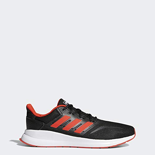 adidas Men's RunFalcon Running Shoe, Black/Active Red/Black, 8.5 M US (Mens Fitness Shoes)