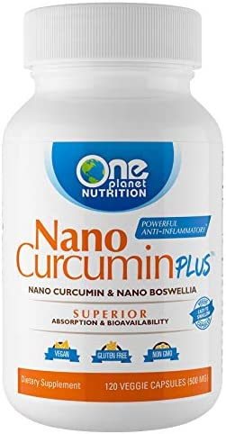 Nano Curcumin Plus Combines Two bioactives, Curcumin extracted from The Tumeric Root and Boswellia extracted from The Boswellia Serrate Tree. 4 Month Supply (120 Capsules)