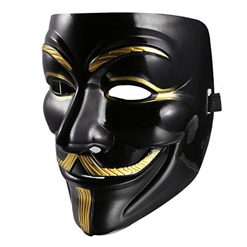 ZEARO Masque de V for Vendetta Mask pour Partie de Mascarade/Carnaval/Halloween/Costume