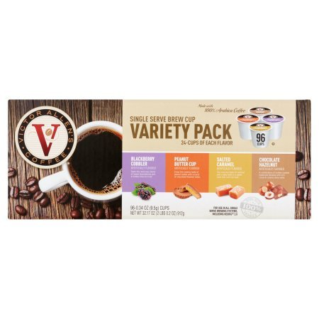 Victor Allen's Coffee Single Serve Brew Cup Variety Pack, 0.34 oz, 96 count (1 Pack) (Allen Mall-shops)