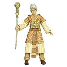 """Indiana Jones Movie Series Raiders of the Lost Ark 4 Inch Tall Action Figure - René Belloq with Colorful Robe, """"Jewels"""" and Ram Headed Staff Plus Hidden Relic Accessories in a Crate"""