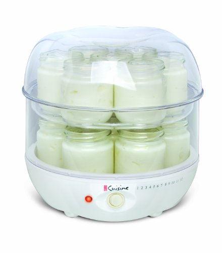 Euro cuisine gy4 top tier yogurt maker import it all for Automatic yogurt maker by euro cuisine