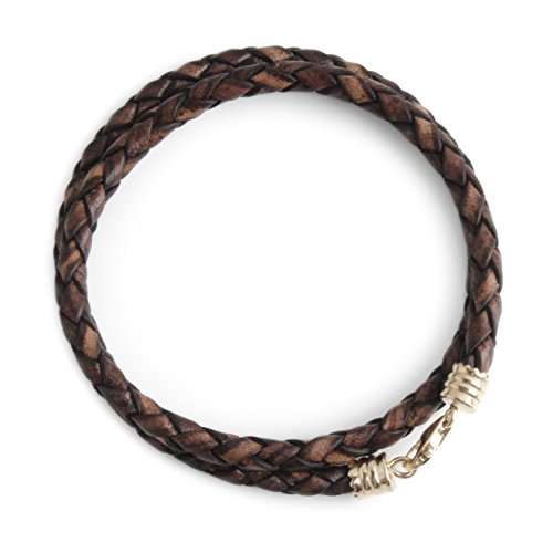 Bracelets Genuine Leather 14K Gold Clasp 4mm 2X Edition Find Your Fit Round 154GB (19 ()