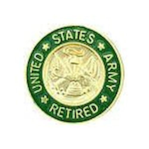 (United States Army Retired - Small Hat Pin)