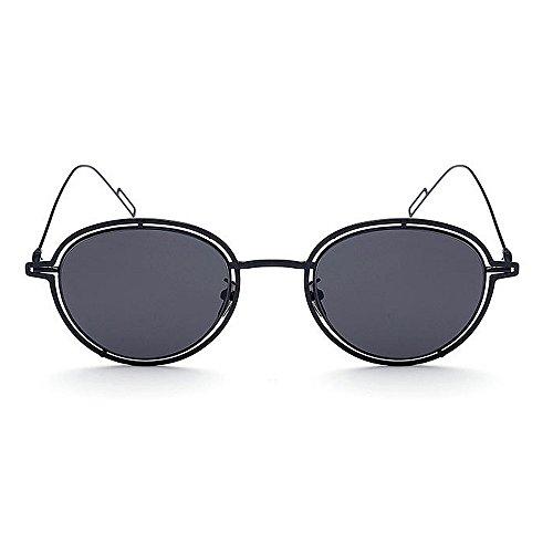 para metálico Protección de en Conducir Colores de Gu con UV Gafas Rosado Sol para la Negro Playa con Borde Peggy con Mujer Lentes Color naXTZx