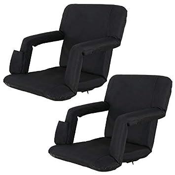 Amazon.com: HomGarden - Juego de 2 sillas de estadio anchas ...