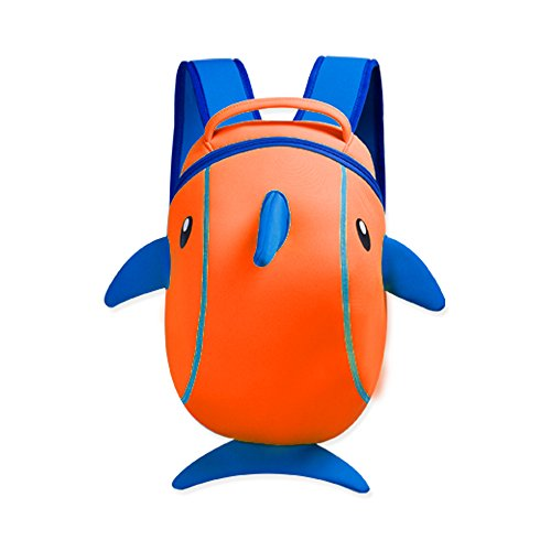 Price comparison product image YISIBO Boys Girls 3d School Bag Animal Monster CartoonKids Backpack Toddler Bookbag Dophin Orange