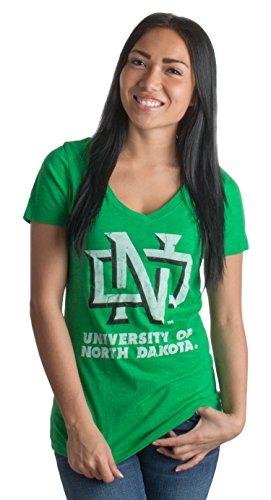 University of North Dakota | UND Vintage Style Ladies' Slub V-neck T-shirt