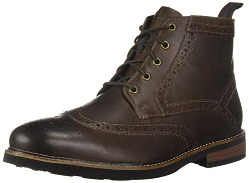 Nunn Bush Men's Odell Wingtip Chukka Boot with KORE Comfort Technology with Brown Crazy Horse, 8 Wide Brown Crazy Horse Leather Footwear