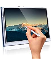 Longruner 5 Inch Zoll Monitor Display Raspberry Pi Touch Screen 800x480 TFT LCD for Raspberry Pi 3 2 Model B RPi 1 B B+ A A+ with Touch Panel SD Card and Touch Pen LSC5A