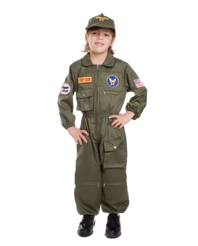 [Air Force Pilot Children's Costume Size: Small] (Pilot Costumes Kids)