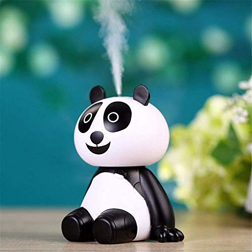 ute Panda Shaped Humidifier Air Diffuser Purifier Atomizer with Portable Mini USB Cable for Office,Home Bedrooms, Baby, Kids Rooms ()