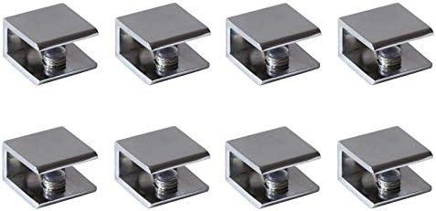 4PCS Adjustable Metal Shelf Holder Bracket Support Glass Wood Shelves Wall Mount