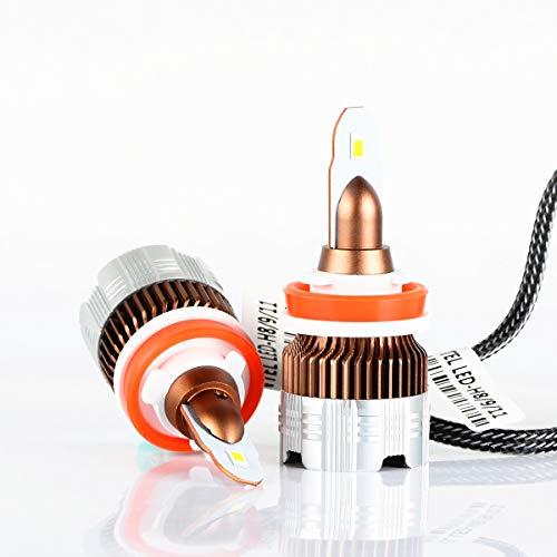 Alla Lighting Ins H8 H9 H11 Led Bulbs Newest 6000 Lumens Extremely Super Bright 6000k Xenon White Super Mini H11 Led Bulbs All In One Conversion Kits Headlight Fog Light Drl Bulbs H11 H8 H9