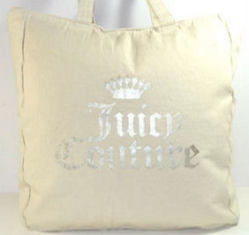 (Juicy Couture Tote w/ Crown Juicy Couture Ivory)