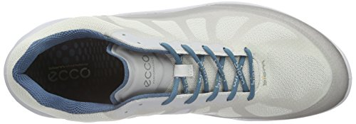 Ecco Mens Biom Fjuel Racer Sneaker Argento / Metallico