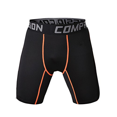 High elastic mens casual plain color black compression short - Buy Tri Shorts Where To