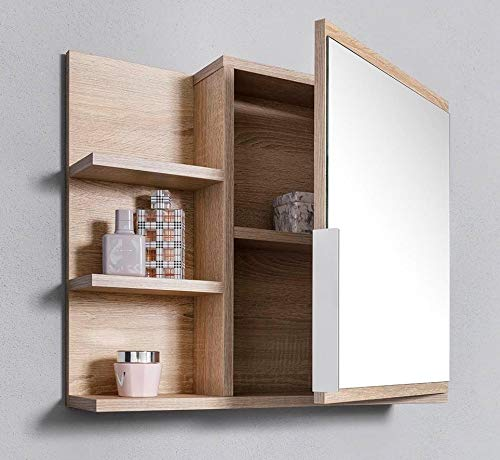 Armadietto da Bagno con Specchio Misura L in Rovere Sonoma DOMTECH Home Decor