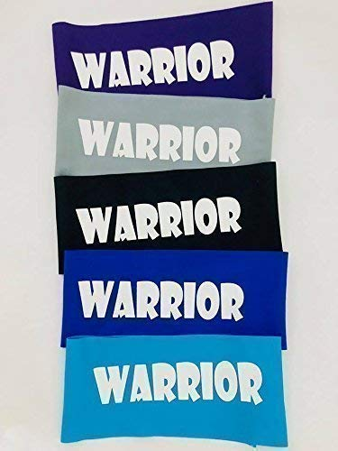 5 Pack of Warrior Headbands, Ninja Headbands for Kids, Party Favors, Blue - Set of 5 by I Heart Art and Baby