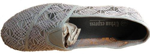 Dona Michi - Scarpe Da Donna In Tela Crochet Con Scollo Grigio