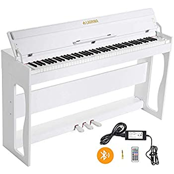 lagrima white digital piano keyboard with 88 weighted keys bluetooth mp3 function. Black Bedroom Furniture Sets. Home Design Ideas