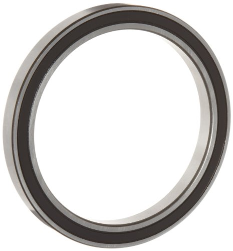 WJB 6816-2RS Deep Groove Ball Bearing, Double Sealed, Metric, 80mm ID, 100mm OD, 10mm Width, 2850lbf Dynamic Load Capacity, 2990lbf Static Load (Metric Bearings)