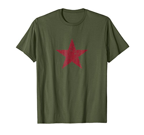 (Red Star T-Shirt Revolution Vintage Soviet Union CCCP USSR)