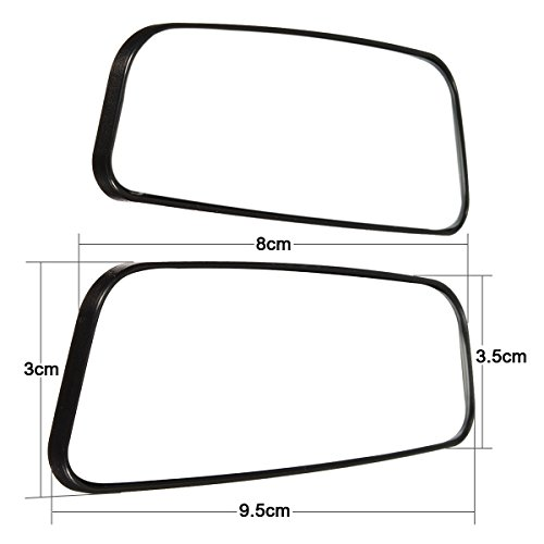 Audew 2 Pack Square Blind Spot Mirror 360 176 Abs Glass For