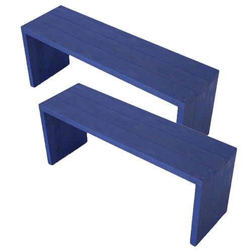 (2台セット)  ウッドステージ ワイド  (長さ90cm x 奥行き27cm x 高さ36cm, GBガーデンブルー) B079Z8XSRR 長さ90cm x 奥行き27cm x 高さ36cm|GBガーデンブルー GBガーデンブルー 長さ90cm x 奥行き27cm x 高さ36cm