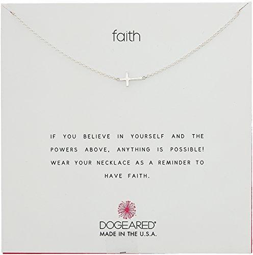 """Dogeared """"Faith"""" 14k  Silver S"""