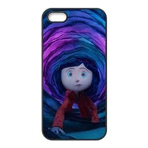 coraline cartoon iPhone 5 5s Cell Phone Case Black yyfD-317970