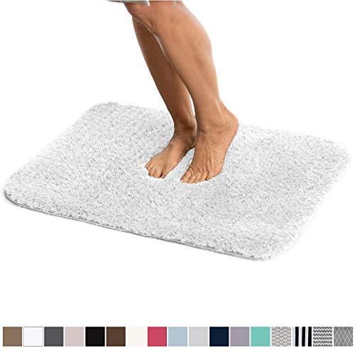 Gorilla Grip Original Luxury Faux Chinchilla Shag Bath Room Rug, 30x20, Super Soft and Cozy, High...