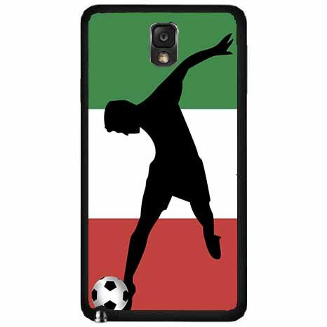 World Cup Italy Soccer TPU RUBBER SILICONE Phone Case Back Cover Samsung Galaxy Note III 3 N9002 includes BleuReign(TM) Cloth and Warranty Label (Naples Cup)