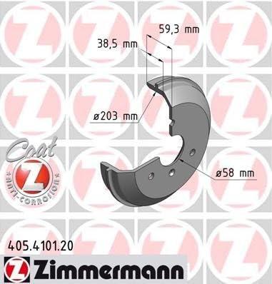 Bremstrommel COAT Z Zimmermann 405.4101.20