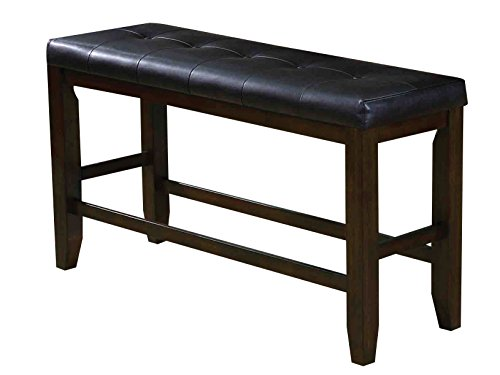 Acme Furniture AC-74634 Bench, Black PU & Espresso
