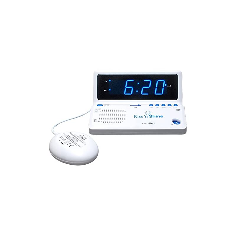 SONIC ALERT Rise 'n Shine Alarm Clock wi