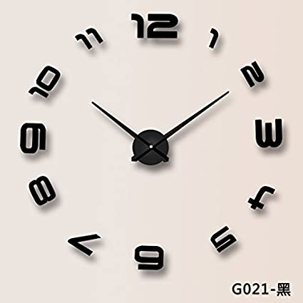 Clg Fly Large Wall Charts Simple And Modern Clocks Wall Clock Diy Ideas The Living Room Clock Family Quiet Electronic Wall Sticker Wall Clock 25 Inch G021 Black Amazon Co Uk Kitchen Home