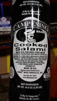 Campesino Cooked Salami 44.8 Oz (6 Pack) by Campesino