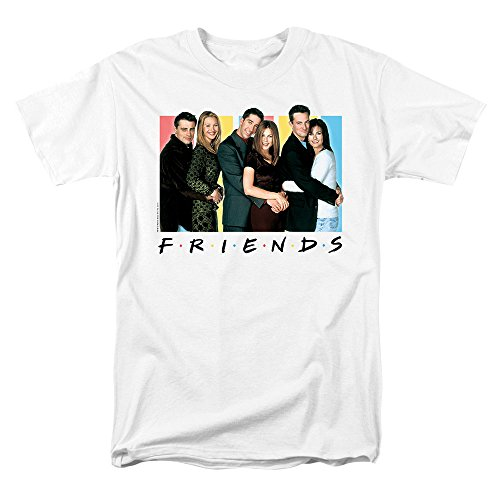 Popfunk Friends Cast T Shirt & Exclusive Stickers (Small) White from Popfunk