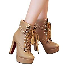 💖💖Description 💖💖Gender:Women 💖💖Upper Material:PU 💖💖Sole Material:Rubber 💖💖Insole Material:PU 💖💖Lining Material:Short Plush 💖💖Suitable Scenes:Outdoor,Fashion,Leisure 💖💖Style:Casual,Simple 💖💖Toe Style:Round head 💖💖Closing Method:Lace-up 💖💖H...