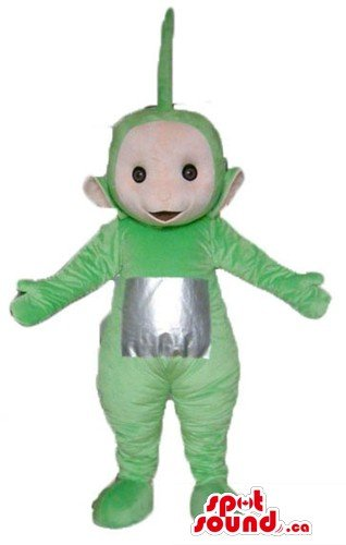 Green teletubby cartoon character SpotSound Mascot US costume fancy dress - Teletubby Fancy Dress
